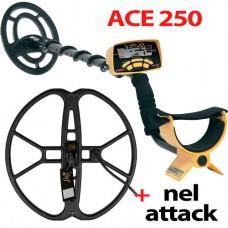 Металлоискатель ACE 250 с катушкой NEL Attack