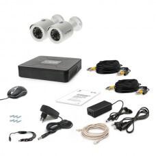 Комплект проводного видеонаблюдения Tecsar 2OUT
