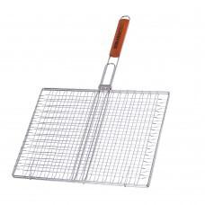 Двойная хромированная решетка с деревянной ручкой BQ-66В-3