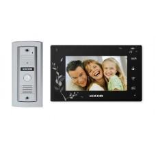 Комплект домофона Kocom KCV-A374 SD Black и видеопанели Kocom KC-MC 20